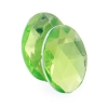 Acrylic 25x18mm Oval Facet Lime Green